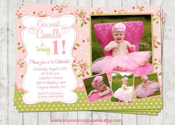 Sweet Camille A Shabby Chic Birthday Invitation by Best
