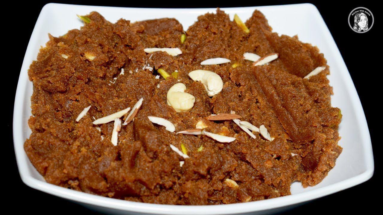 besan ka halwa recipe how to make non sticky besan halwa by kitchen wi besan ka halwa on hebbar s kitchen halwa id=28249