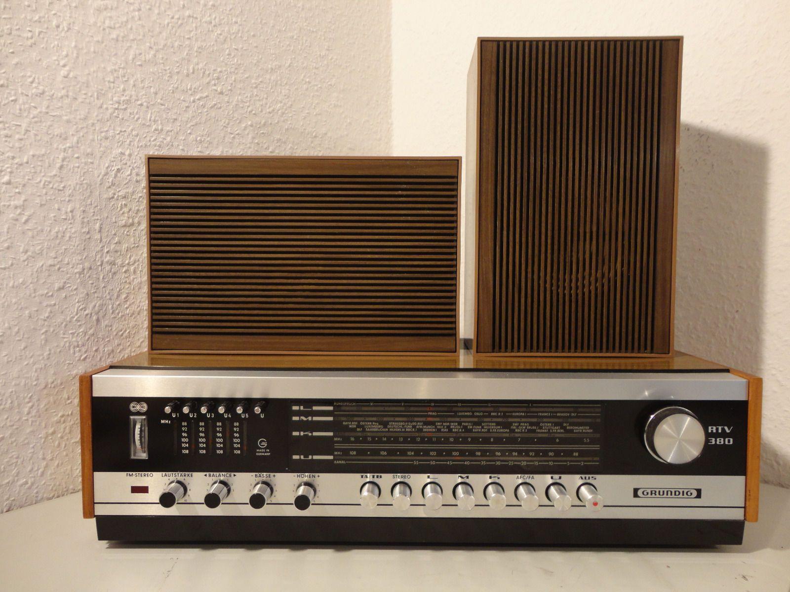 Vintage Stereo Receiver Fm Radio Grundig Rtv 380