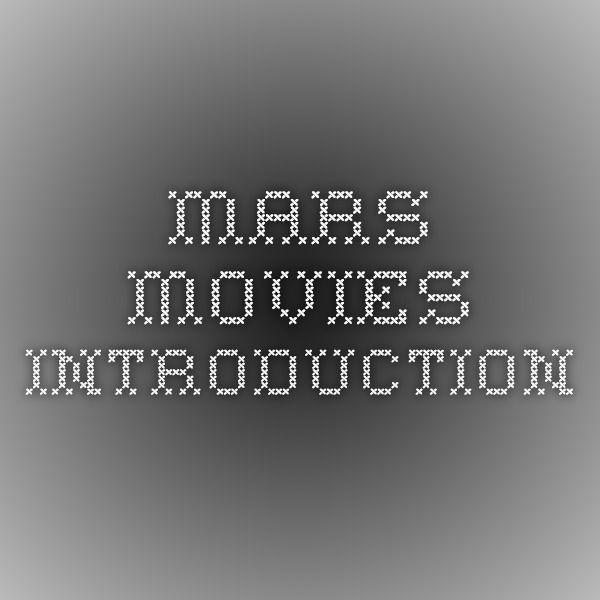 Mars movies - Introduction