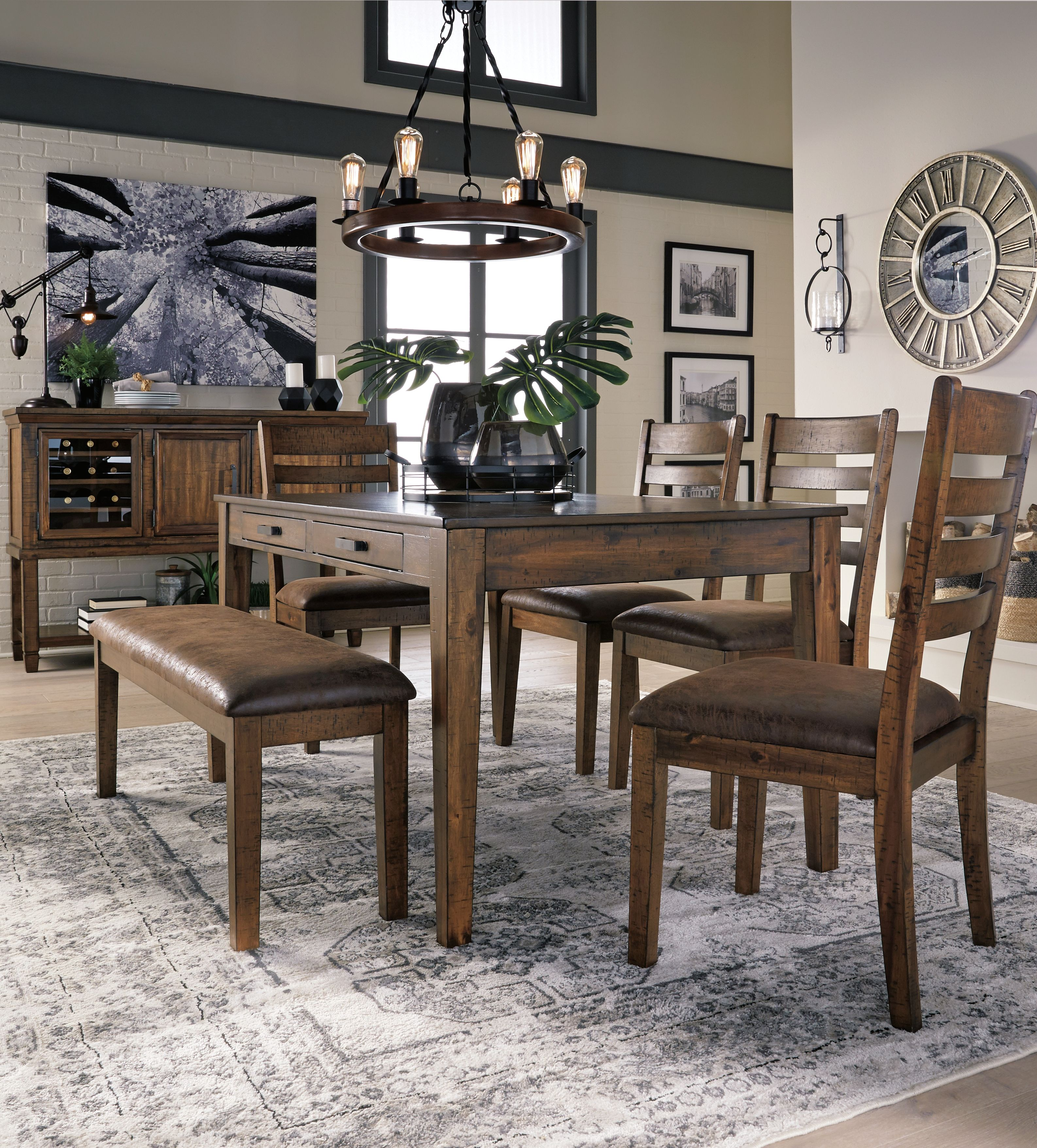 Royard Dining Room Table Warm Brown Dining Room Remodel Dining Room Decor Contemporary Dining Room