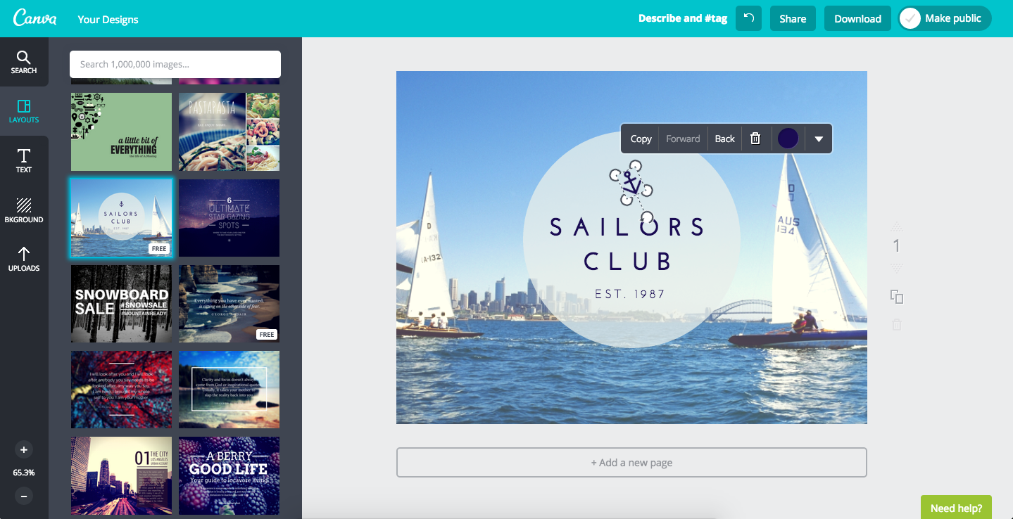Canva - Online subscription graphic design tool. | Marketing ...