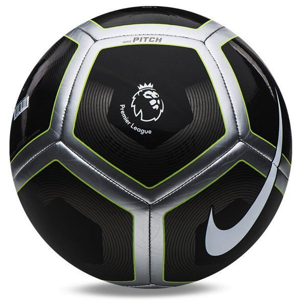 Nike Premier League Pitch Ball Black Silver Soccer Balls Ball Football Ball