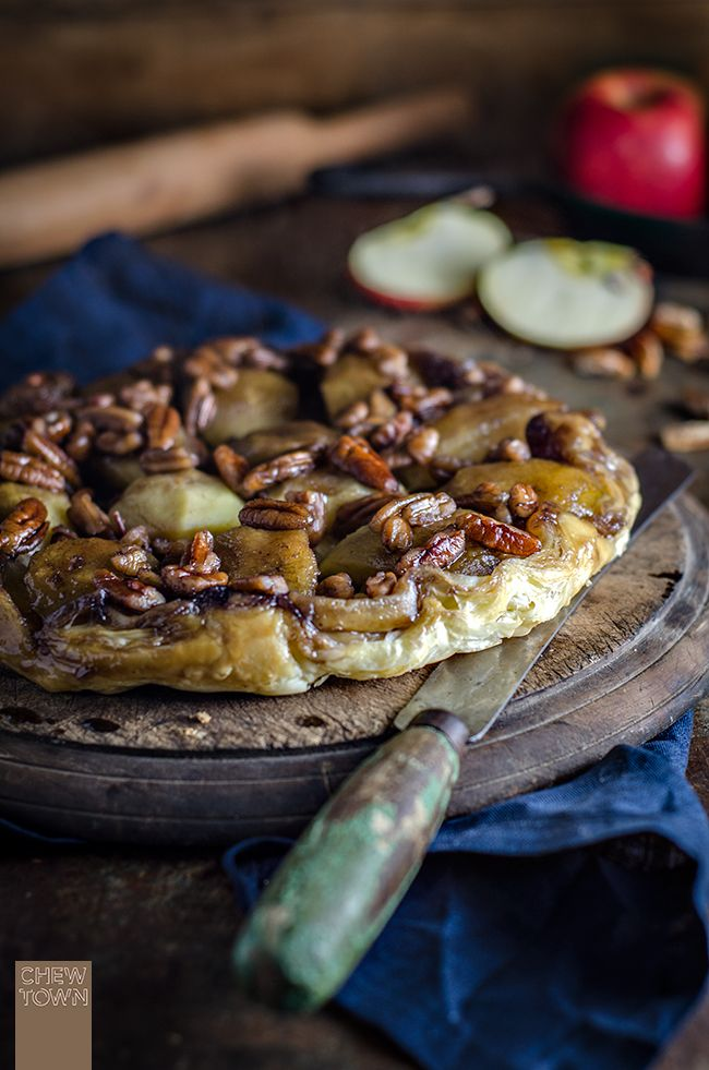 Apple Maple and Pecan Tarte Tatin   Chew Town Food Blog