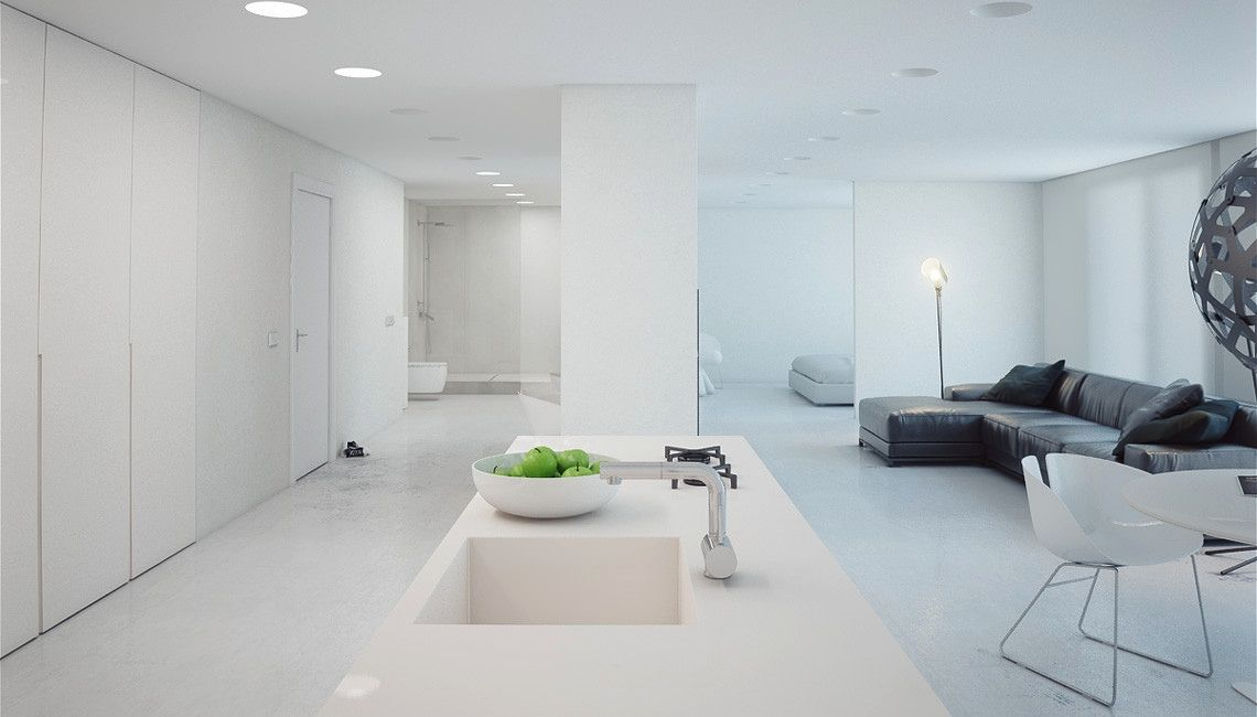 Awesome Apartments, Marvellous Modern Minimalist Apartment And Luxury Apartment  Interior It Is Not Only The White Interior That Helps Making This Modern  Apartment ...