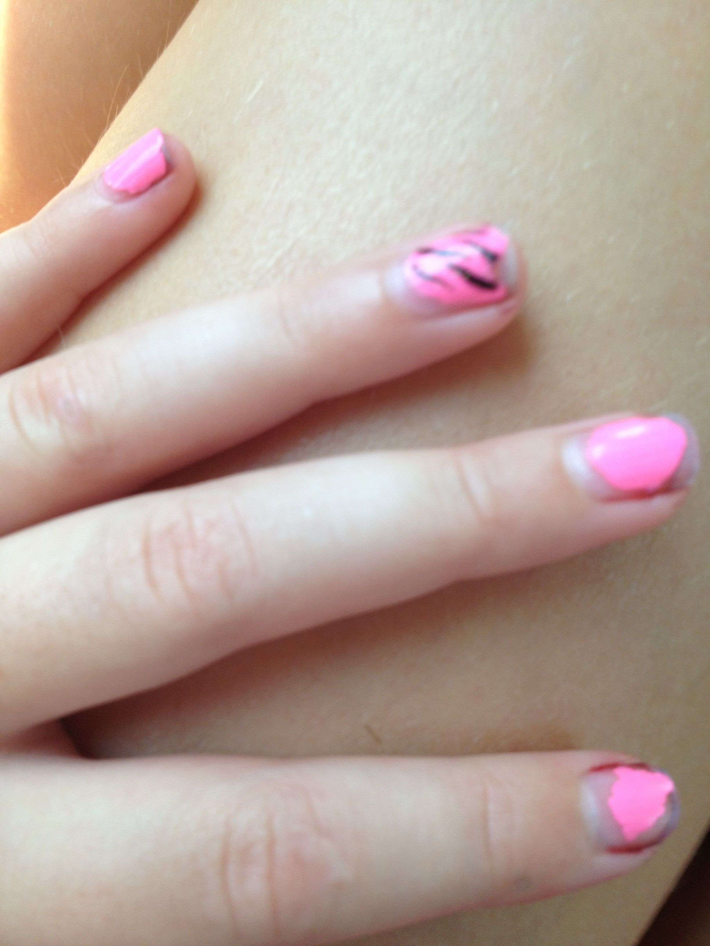 Painted my nails it\'s coming off a little bit | Nails | Pinterest