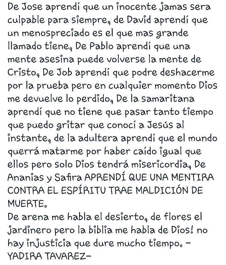 Yadira Tavarez : Palabra profetica dada a yadira tavarez.