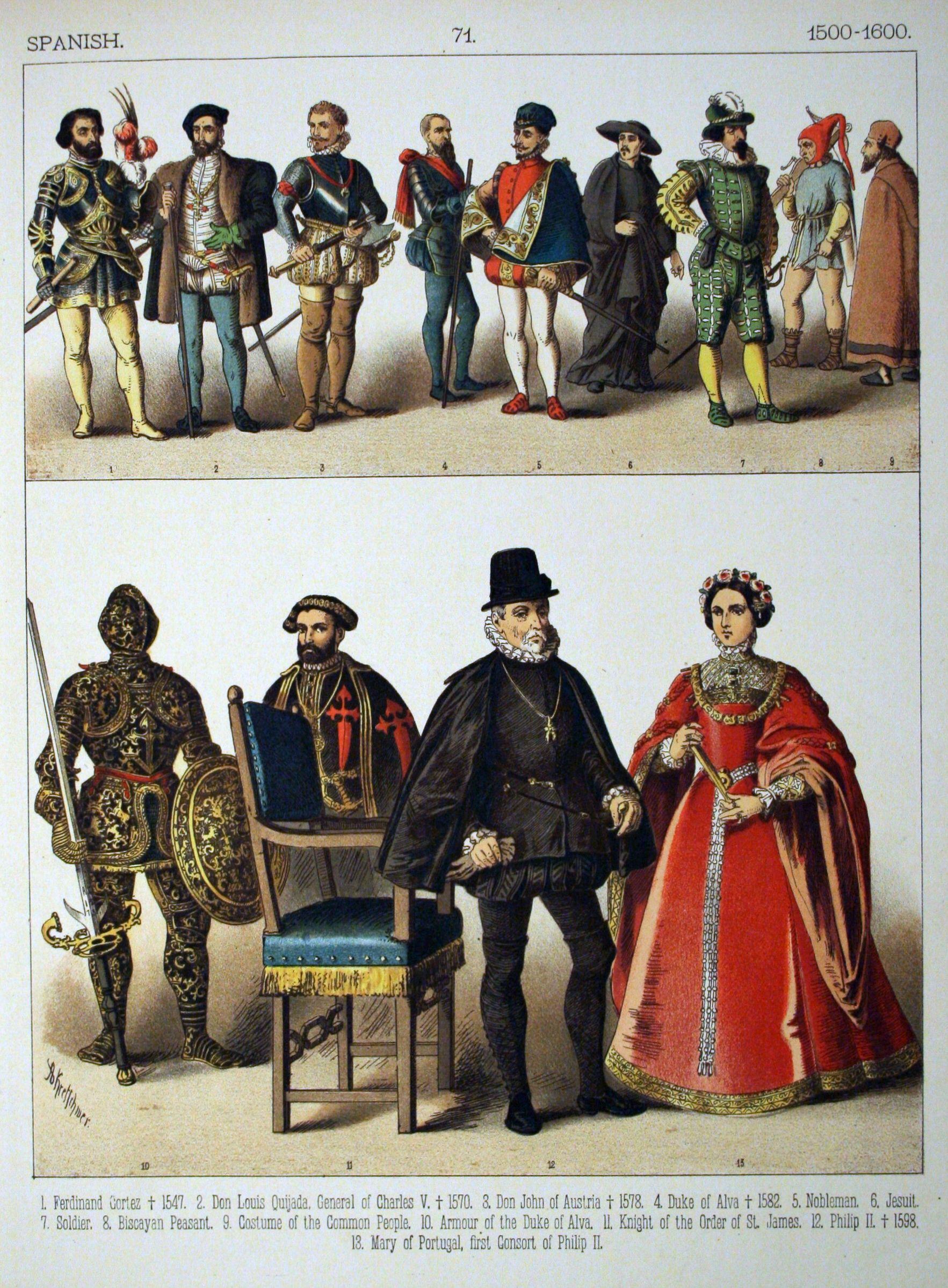 History Of Costume Description Spanish