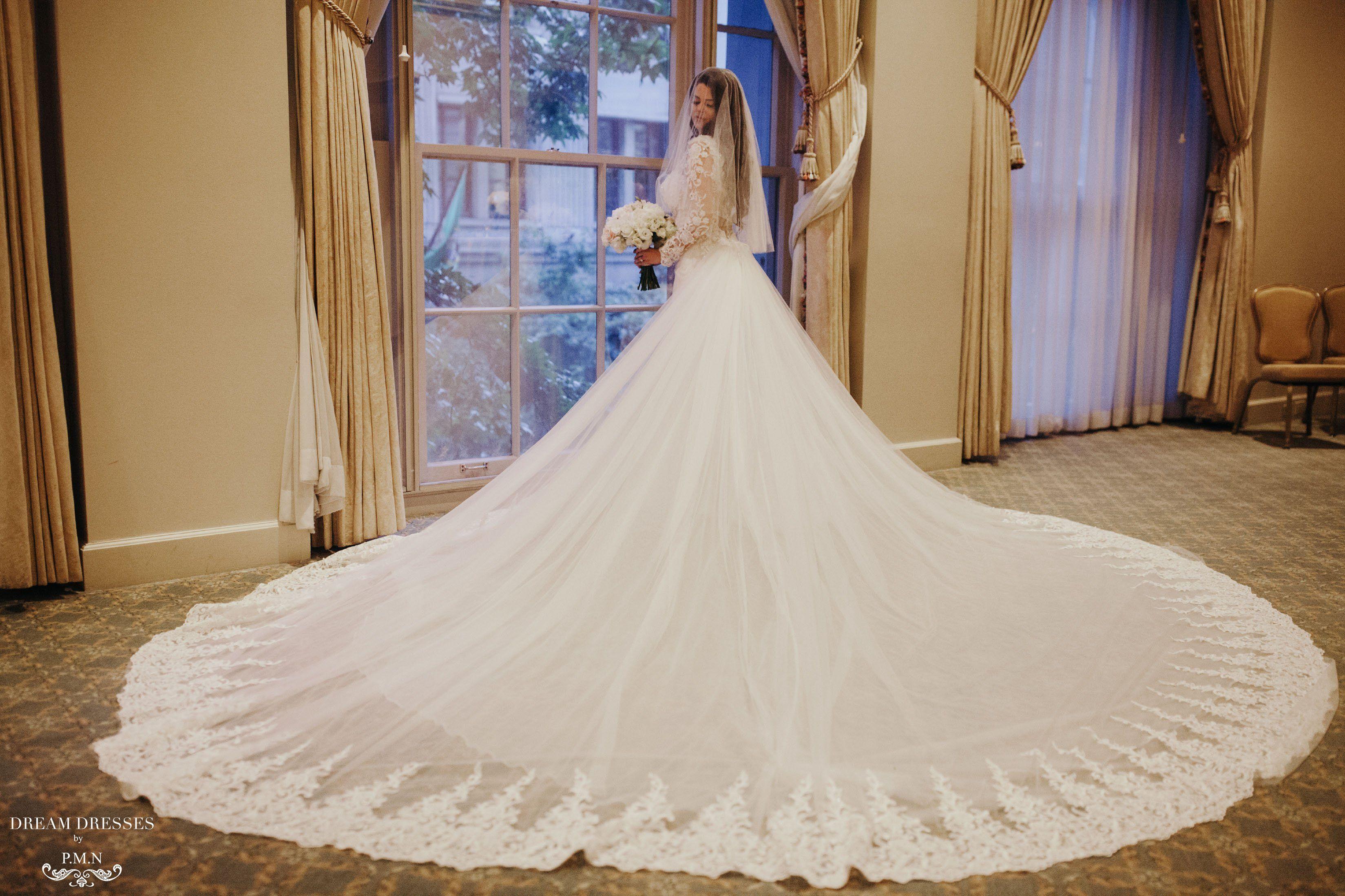 Detachable Cathedral Wedding Train (Tessa) Wedding