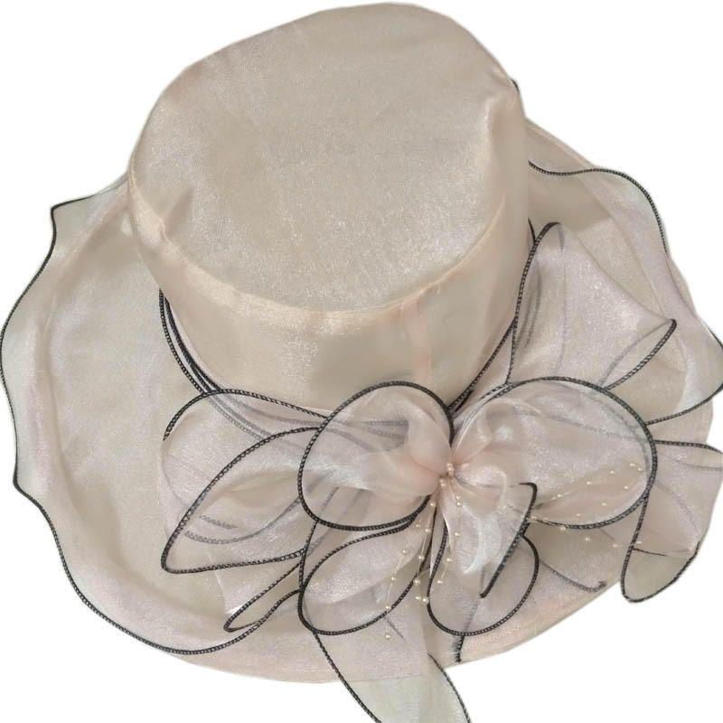 Women Short Brim Large Wide Brim Gauze Bucket Hat Dress Cap at Banggood 44fc8c571