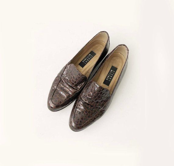 063c4a52178c3 Vintage 90s Stuart Weitzman Flats - Womens Designer Chestnut Brown ...