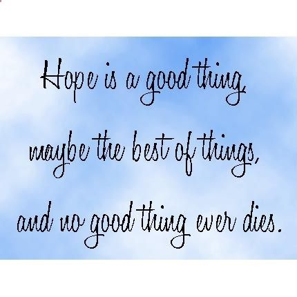 the shawshank redemption quote hope is a good thing be the  the shawshank redemption quote hope is a good thing be the best of things