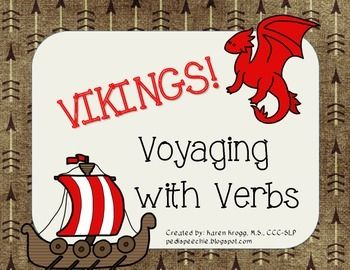 Conquer verbs with the help of two ferocious Vikings, Thelma and Thor!This packet includes the following:1- What Is A Verb? Visual to explain: Main Verbs & Auxiliary (Helping) Verbs  - Act Like a Viking/ Dragon game: 48 total cards  - 2 Is It a Verb? $38.00