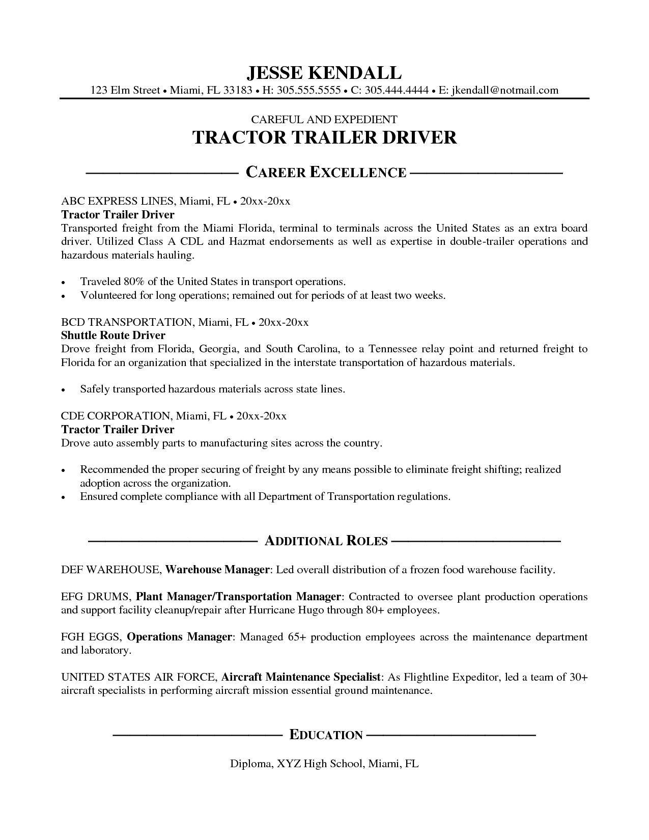 Resume Samples For Truck Drivers Resume Examples Delivery Driver  Resume Examples  Pinterest .