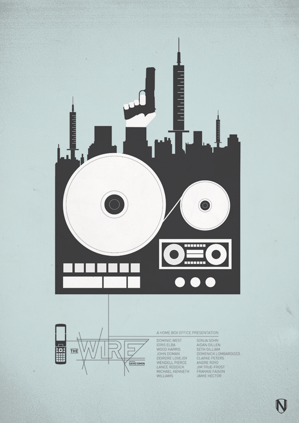 Show inspired by HBO show The Wire through Needle Design, | Posters ...