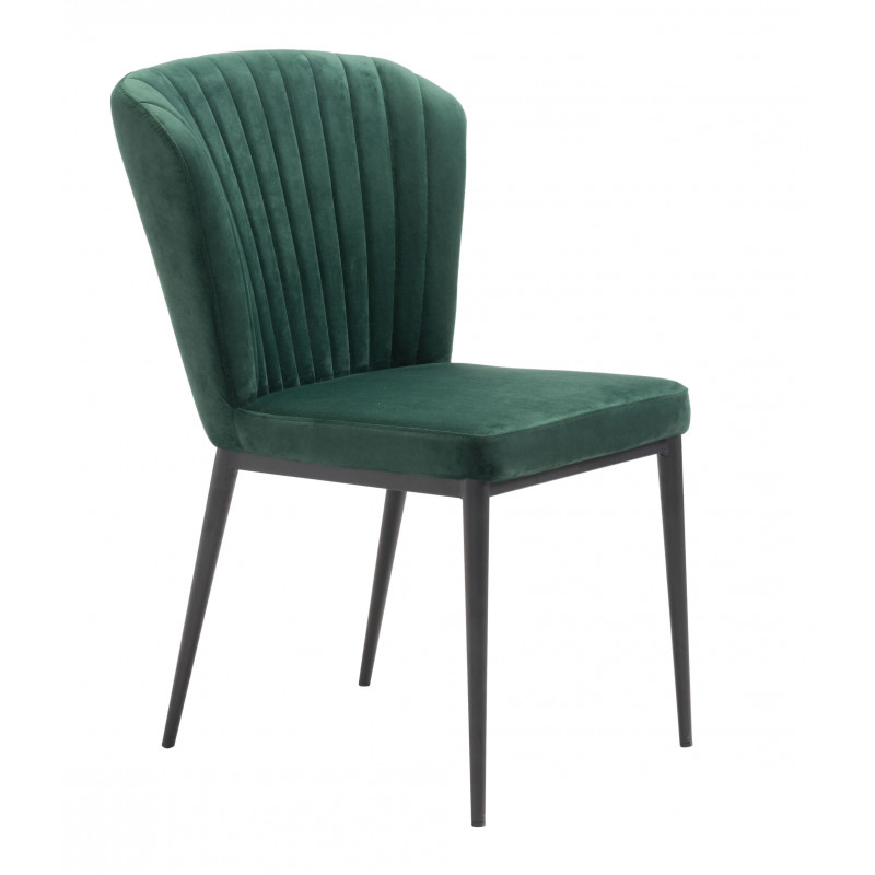 A Flared Back And Channeled Tufting Gives This Armless Dining Chair An Art Deco Vibe Pull It Up To You In 2020 Tufted Dining Chairs Dining Chairs Velvet Dining Chairs