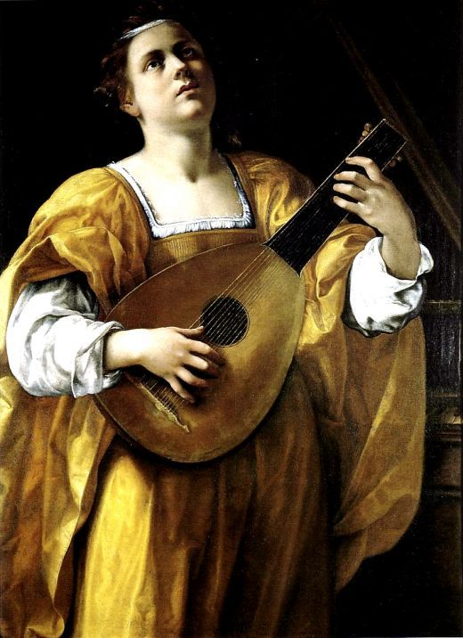 Artemisia Gentileschi Portrait Of A Lady And An Artist In The