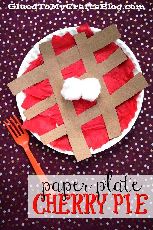 Paper Plate Cherry Pie - Kid Craft