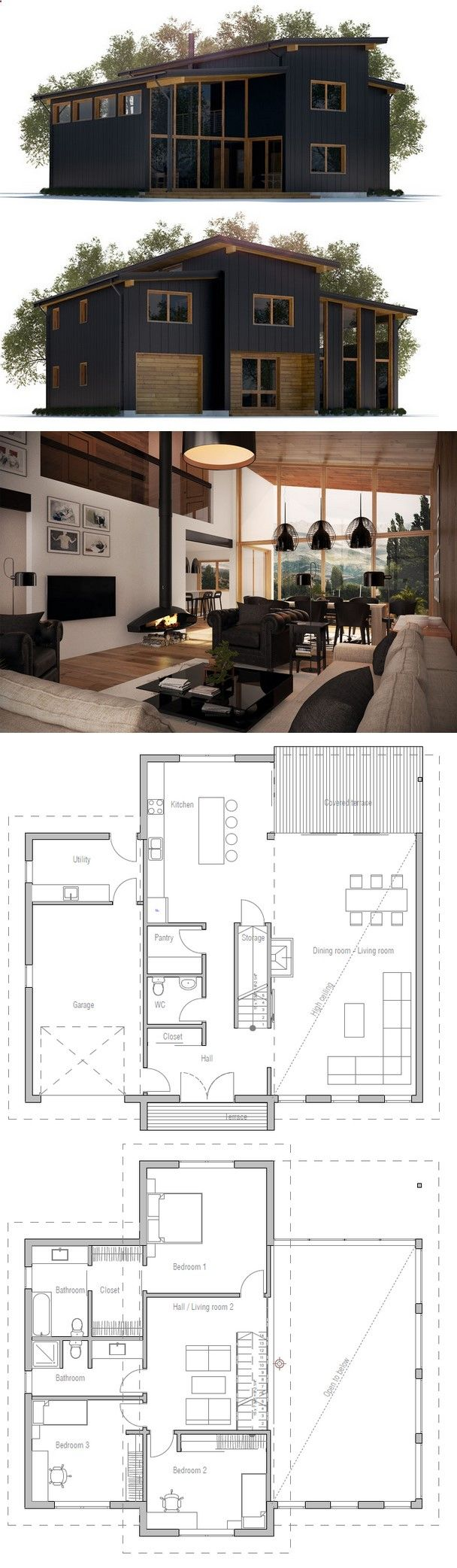 2 story master bedroom  Home Plan  Dream home  Pinterest  House Tiny houses and Future house