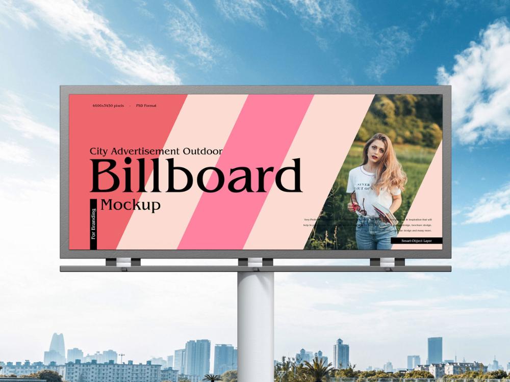 Free City Advertisement Outdoor Billboard Mockup Design Mockup Planet Billboard Mockup Outdoor Advertising Billboard Billboard Design