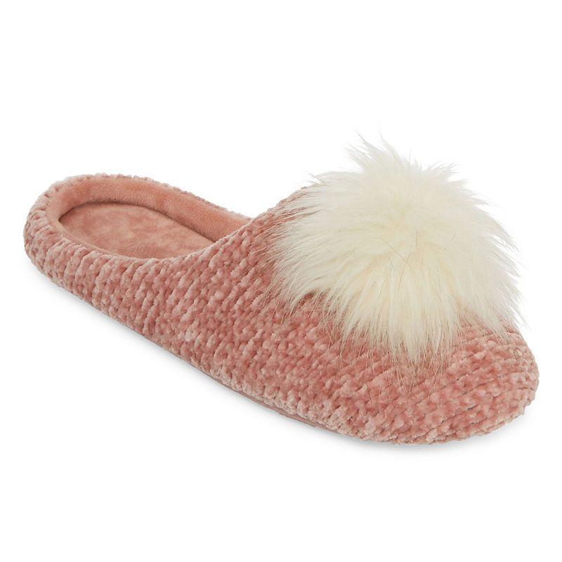 f&f faux fur open toe mule slippers