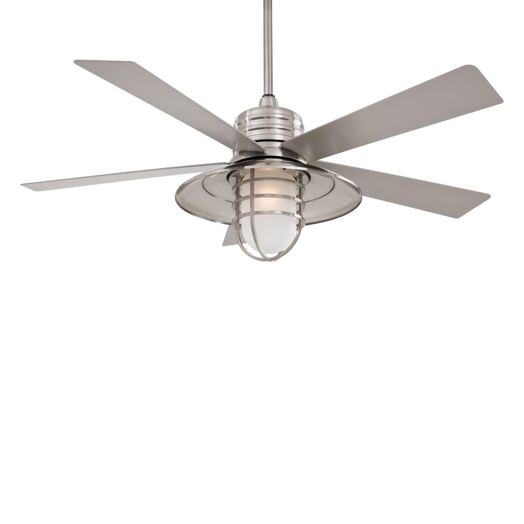 Rainman Ceiling Fan By Minka Aire Ceiling Fan Ceiling Fan With Light Brushed Nickel Ceiling Fan
