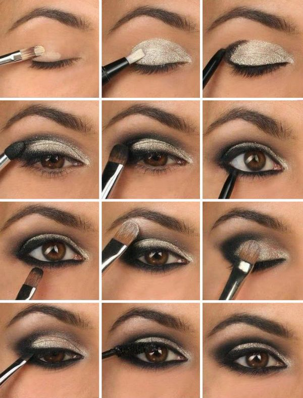 makeup smokey eyes f r braune augen mode diy maquillaje. Black Bedroom Furniture Sets. Home Design Ideas