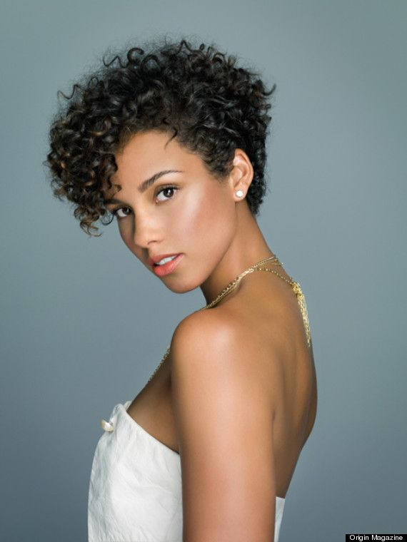 Alicia Keys Curly Pixie Hairstyles Curly Pixie Haircuts African American Short Haircuts