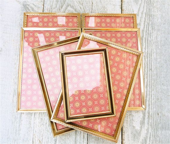 Thin Gold Metal Frames Vintage And Mid Century Home Decor 5 X 7