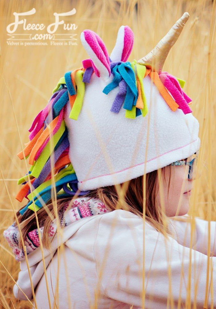 Tutorial and pattern: Fleece unicorn hat | Headware | Pinterest ...