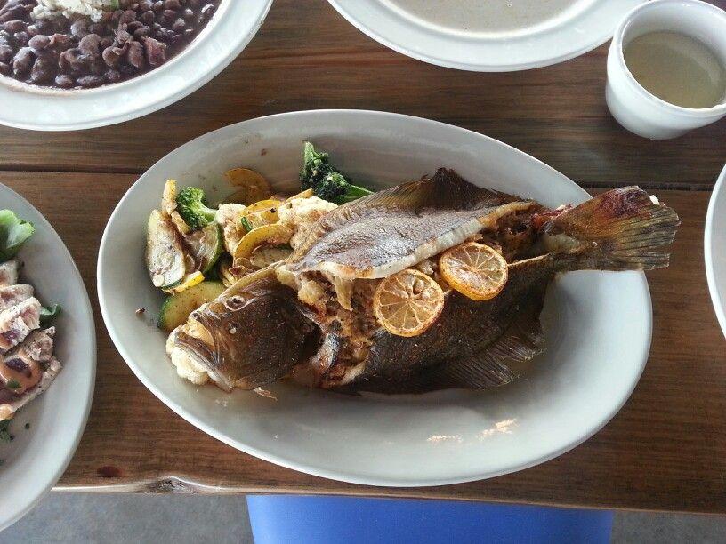 Fresh crabmeat stuffed broiled flounder
