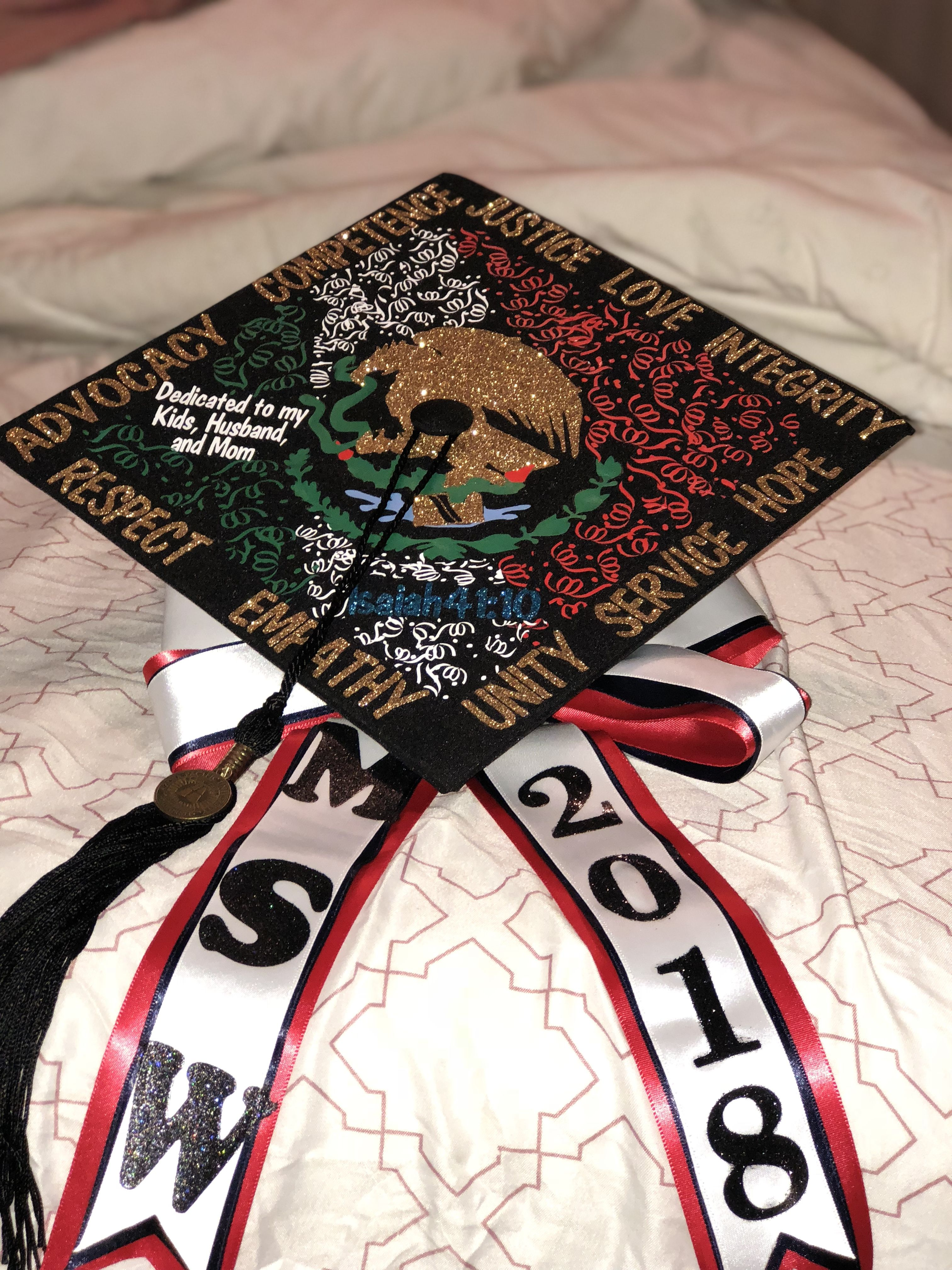 Graduation Cap - Mexican theme | College graduation cap ...