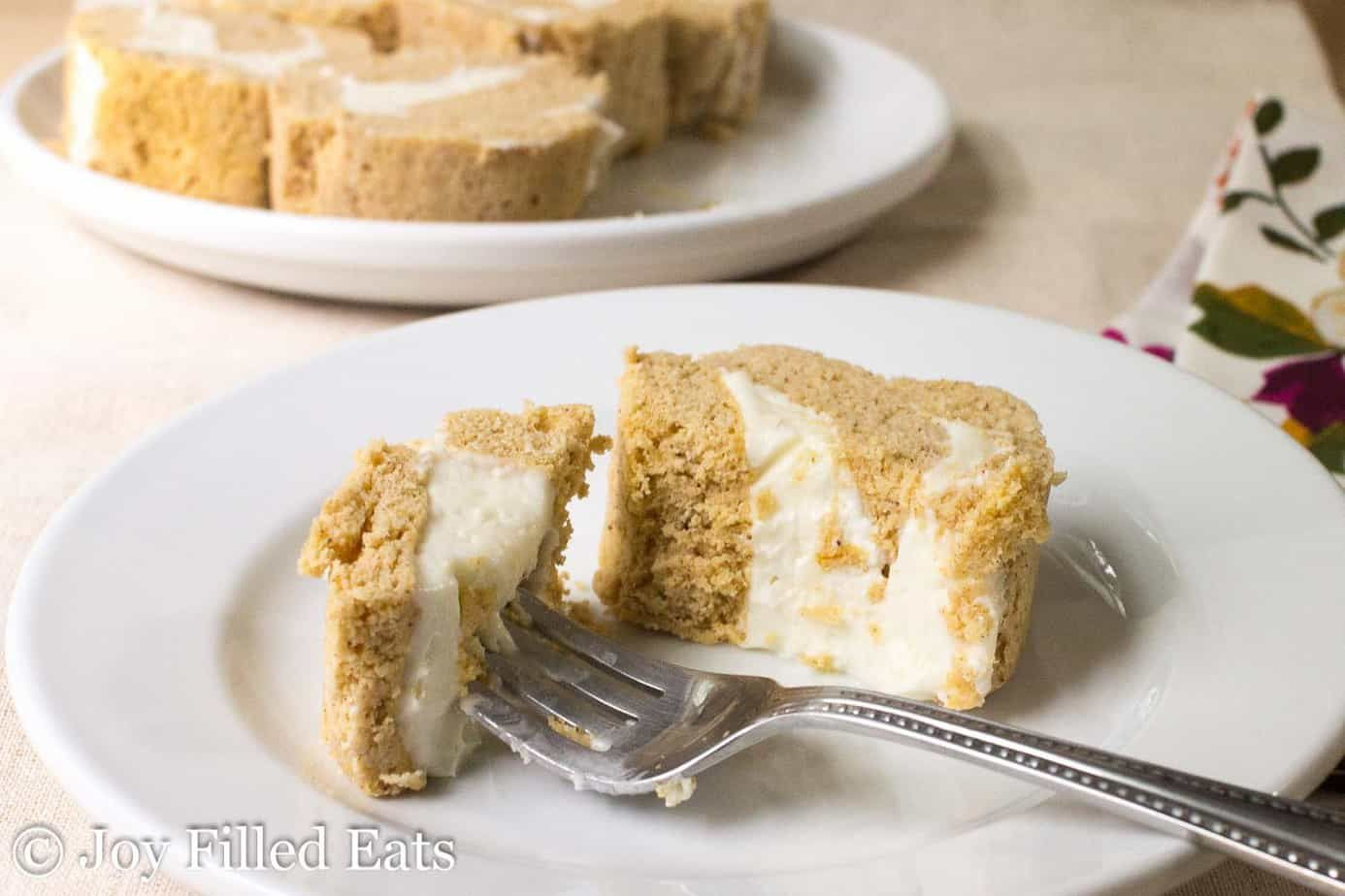 Mini Pumpkin Cake Roll W Cream Cheese Icing Has All The Flavors Of