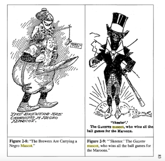 In 1909, the Milwaukee Sentinel ran an illustration depicting the minor league Milwaukee Brewers' mascot