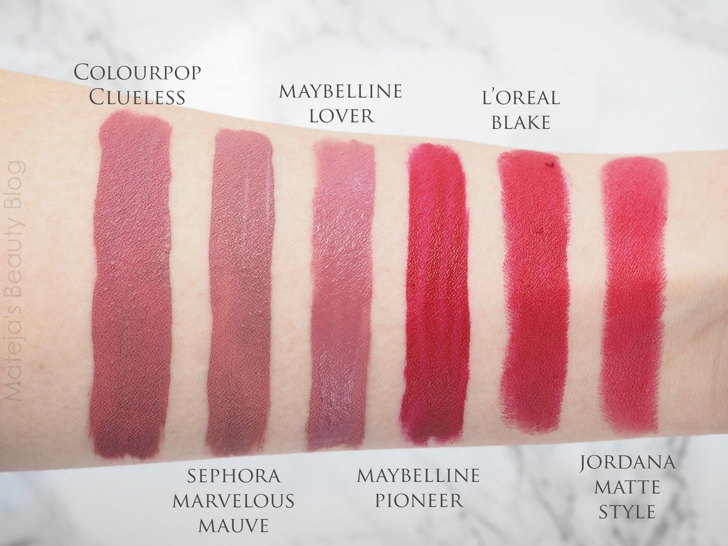 Colourpop Ultra Matte Clueless Sephora Lip Stain 13 Marvelous Mauve Maybelline Super Stay