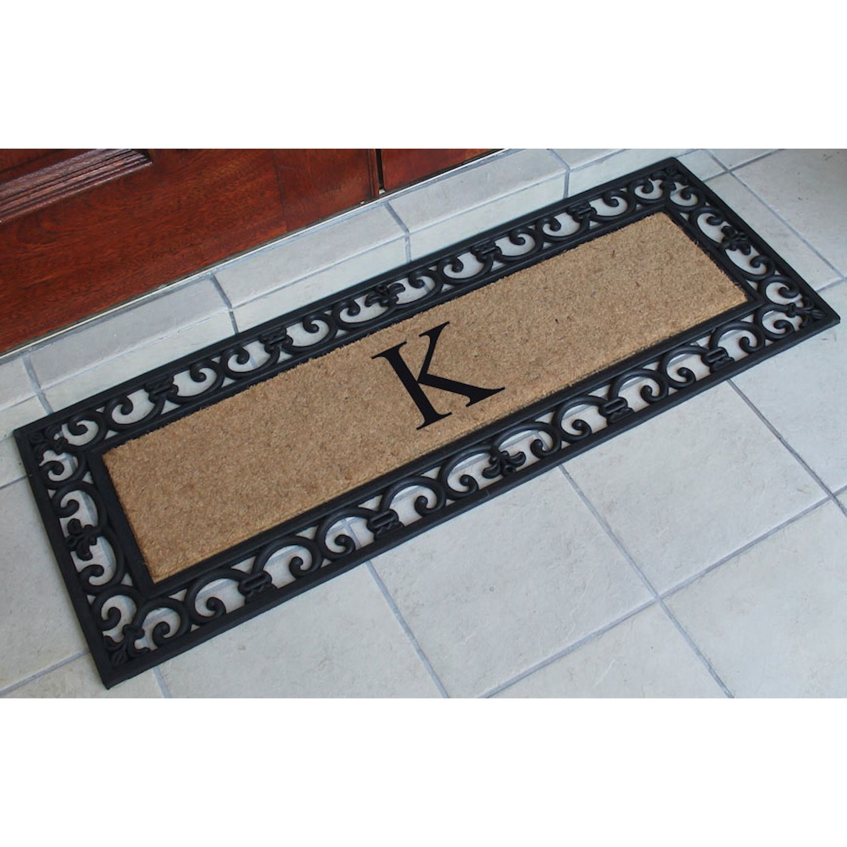 entry guides l on cheap quotations deals double first find line door at haywood shopping doormat monogrammed get impression doors