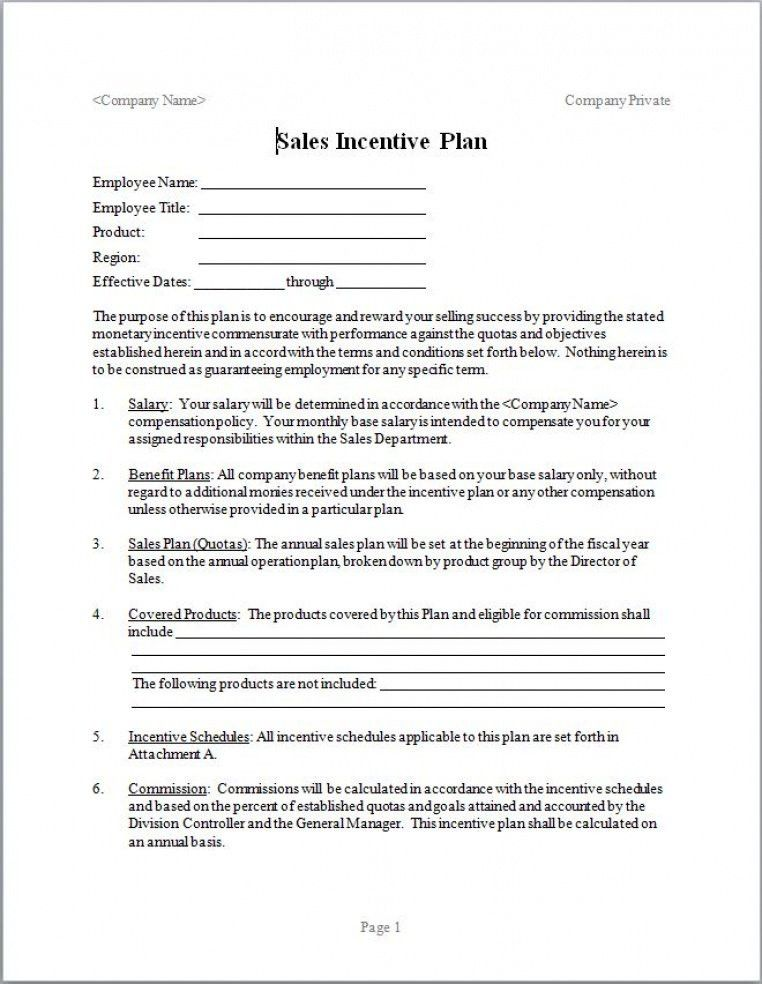 Sales Compensation Plan Template Excel In 2020 How To Plan Incentive Template Design