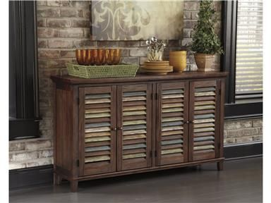 Shop For Signature Design Dining Room Server, D540 160, And Other Cabinets  At. Rustic DesignHome StoresSalt Lake ...