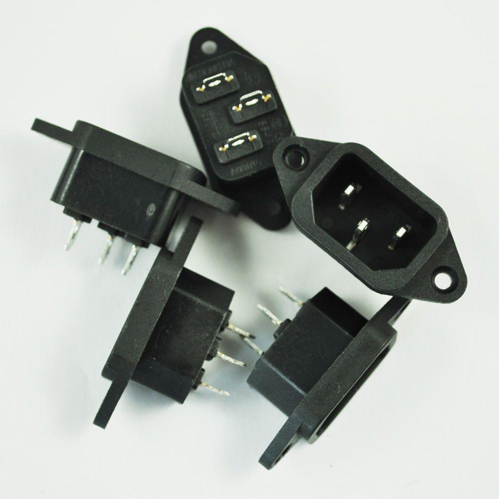 브랜드의 새로운 5 개 3 마력 IEC 320 C14 플러그 패널 전원 입구 소켓 커넥터 AC 250 볼트 10A