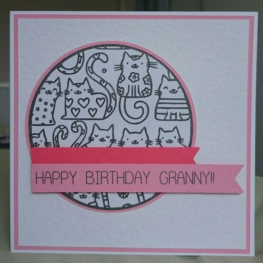 Granny Birthday Card Cats My Homemade Cards Pinterest