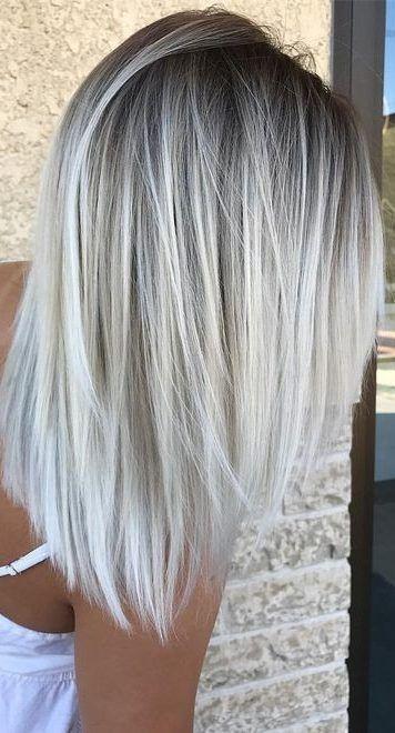 50 schöne Balayage Haarfarbe Ideen für blondes kurzes glattes Haar