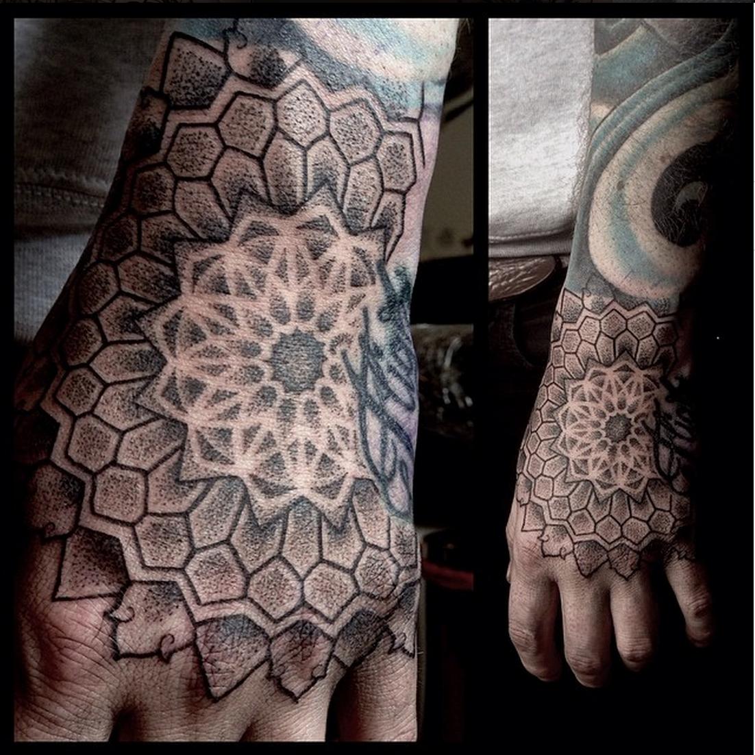 Tattoo Ideas Uk: Dotwork Hand Mandala By Jessi James At Black Rabbit