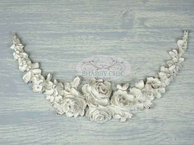 Shabby Chic French Large Rose Garland Furniture Vintage Decor Applique Molding