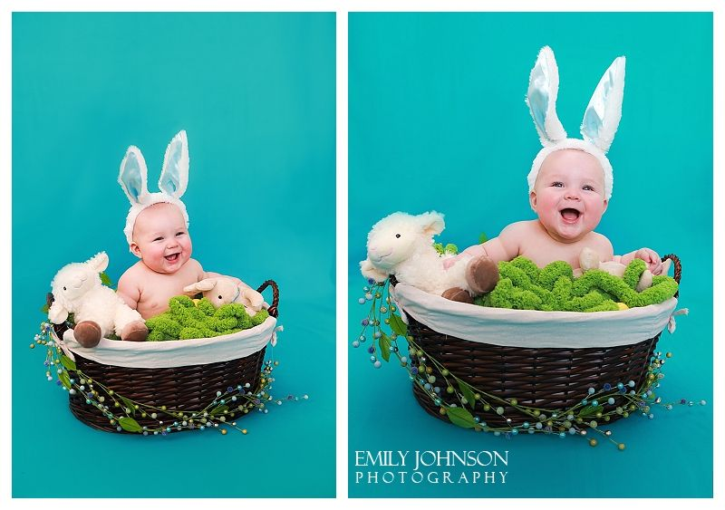Emily johnson photography 6 month baby boy portrait session easter cute easter photo idea with two family photo ideas negle Choice Image