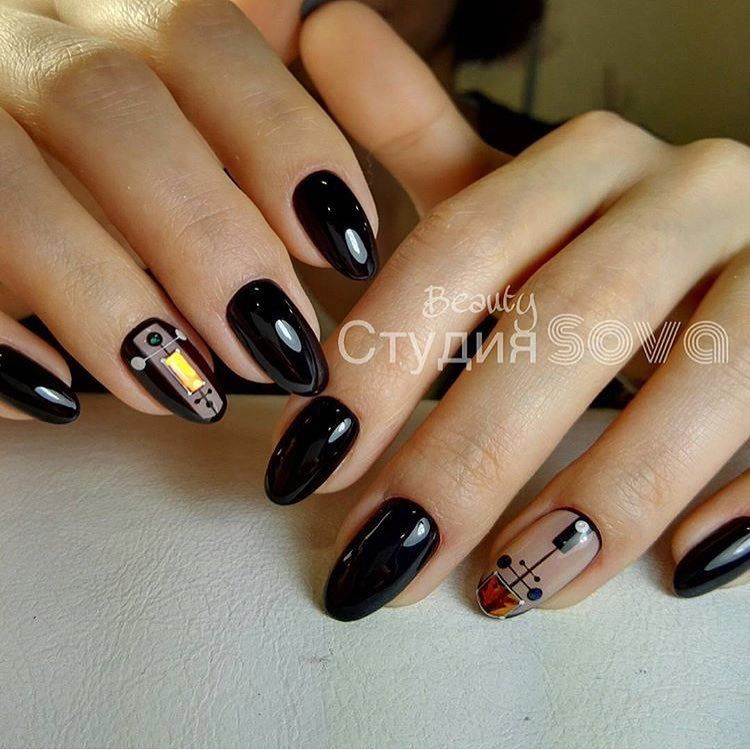 Autumn Nails With A Pattern Fall Nail Ideas Fall Nails Ideas Fall