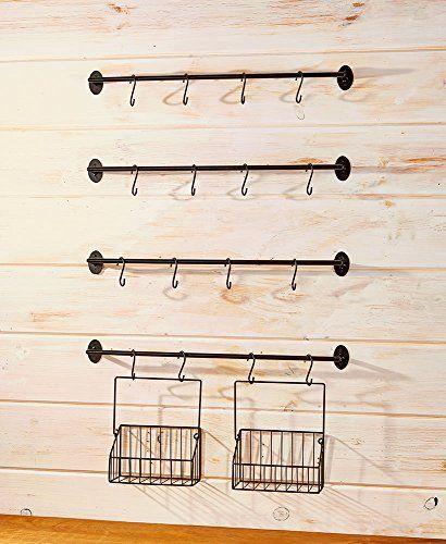 Photo of The Lakeside Collection 6-Pc. Coffee mug wall rack
