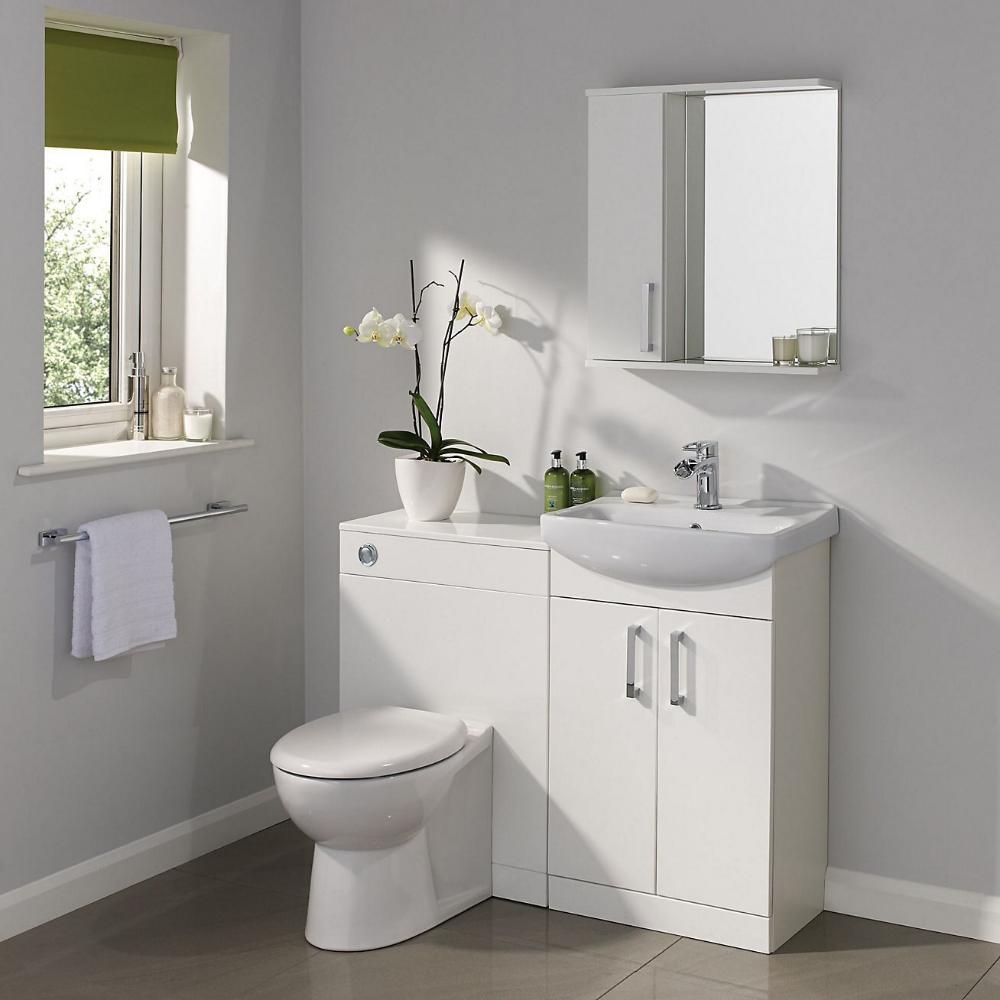 Ardenno Single door White Gloss Mirror Mirror