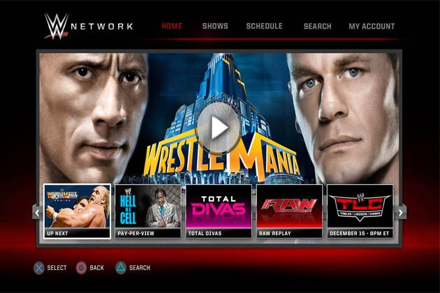Wwe Network Advisories For Ps3 And Xbox 360 Users Wwe Wrestling Games Famous Wrestlers