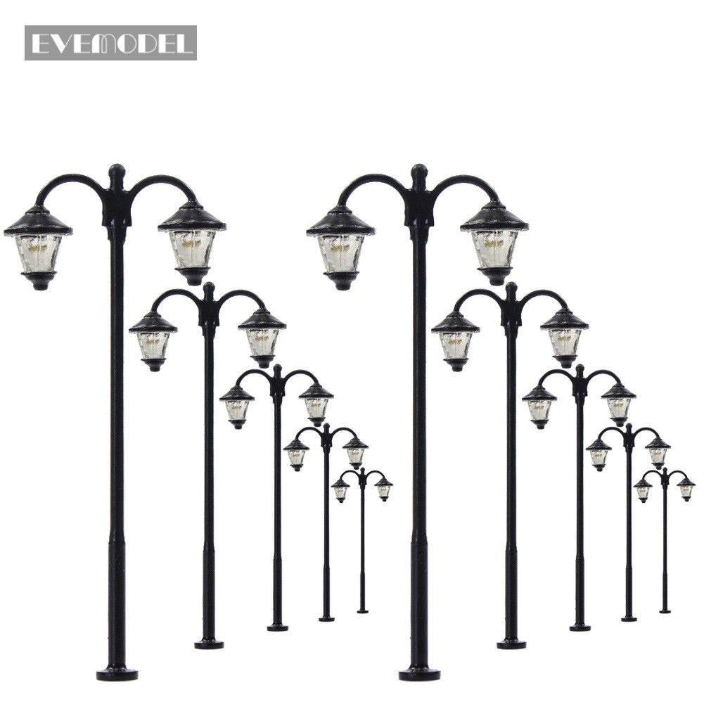 10pcs Model Railway Led 6cm Lamppost Lamps Ho Scale Street Lights 12v Lym18cn Lamp Post Street Light Model Railway