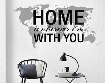 Home is map decals world map decals map wall decal wall art home is map decals world map decals map wall decal wall art gumiabroncs Image collections